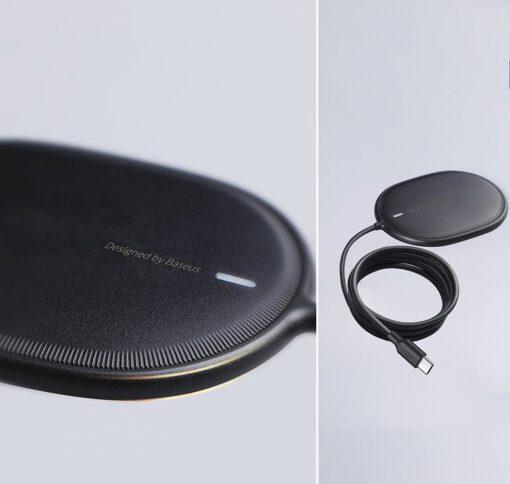 Baseus magnetiga juhtmevaba Qi laadija 15 W MagSafe compatible valge WXQJ 02 17