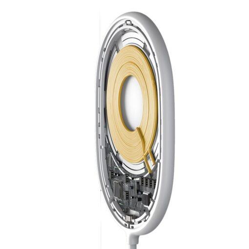 Baseus magnetiga juhtmevaba Qi laadija 15 W MagSafe compatible valge WXQJ 02 3