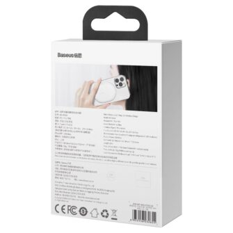 Baseus magnetiga juhtmevaba Qi laadija 15 W MagSafe compatible valge WXQJ 02 5