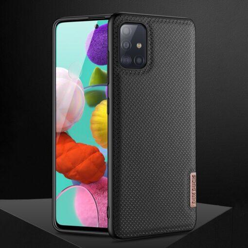 Samsung A51 umbris Dux Ducis Fino silikoonit servade ja nailonist tagusega must 10