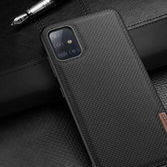 Samsung A51 umbris Dux Ducis Fino silikoonit servade ja nailonist tagusega must 11