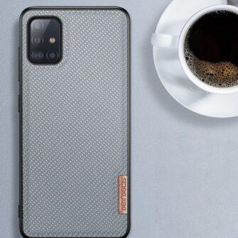 Samsung A51 umbris Dux Ducis Fino silikoonit servade ja nailonist tagusega must 12