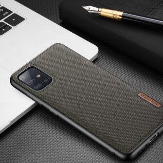 Samsung A51 umbris Dux Ducis Fino silikoonit servade ja nailonist tagusega must 13