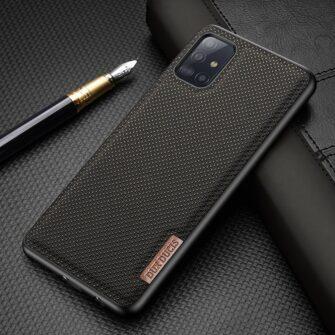 Samsung A51 umbris Dux Ducis Fino silikoonit servade ja nailonist tagusega must 15