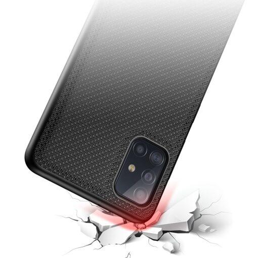 Samsung A51 umbris Dux Ducis Fino silikoonit servade ja nailonist tagusega must 3