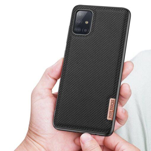Samsung A51 umbris Dux Ducis Fino silikoonit servade ja nailonist tagusega must 5