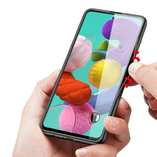 Samsung A51 umbris Dux Ducis Fino silikoonit servade ja nailonist tagusega must 7
