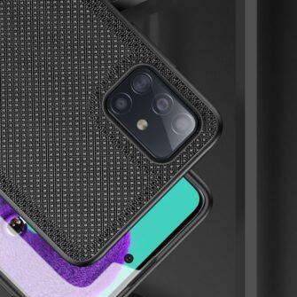 Samsung A51 umbris Dux Ducis Fino silikoonit servade ja nailonist tagusega sinine 14