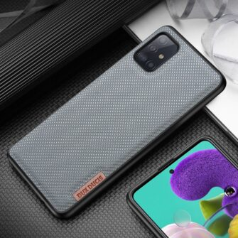Samsung A51 umbris Dux Ducis Fino silikoonit servade ja nailonist tagusega sinine 15