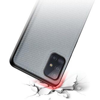 Samsung A51 umbris Dux Ducis Fino silikoonit servade ja nailonist tagusega sinine 3