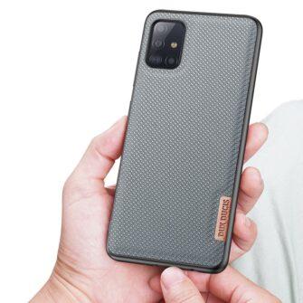 Samsung A51 umbris Dux Ducis Fino silikoonit servade ja nailonist tagusega sinine 5