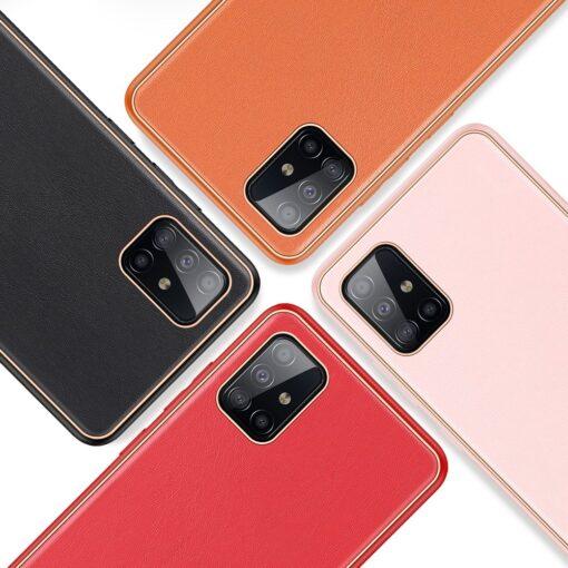 Samsung A51 umbris YOLO kunstnahast ja silikoonist servadega punane 10