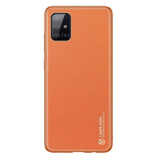 Samsung A51 umbris YOLO kunstnahast ja silikoonist servadega punane 11 1