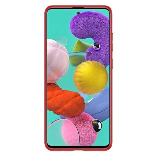 Samsung A51 umbris YOLO kunstnahast ja silikoonist servadega punane 12