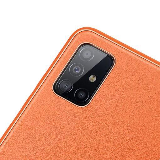 Samsung A51 umbris YOLO kunstnahast ja silikoonist servadega punane 2 1