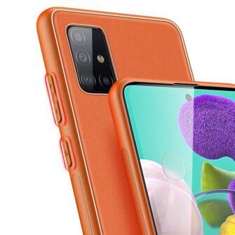 Samsung A51 umbris YOLO kunstnahast ja silikoonist servadega punane 3 1