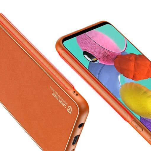 Samsung A51 umbris YOLO kunstnahast ja silikoonist servadega punane 6 1