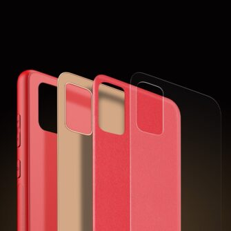 Samsung A51 umbris YOLO kunstnahast ja silikoonist servadega punane 7