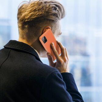 Samsung A51 umbris YOLO kunstnahast ja silikoonist servadega punane 9 1