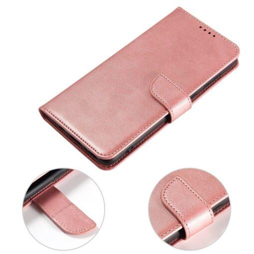 Samsung A71 magnetiga raamatkaaned roosa 4