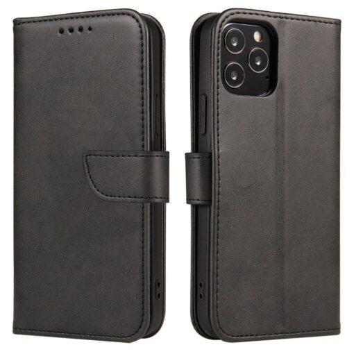 Samsung Galaxy A21S magnetiga raamatkaaned must