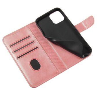 Samsung Galaxy A21S magnetiga raamatkaaned roosa 6