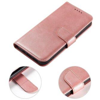 Samsung Galaxy A21S magnetiga raamatkaaned roosa 7