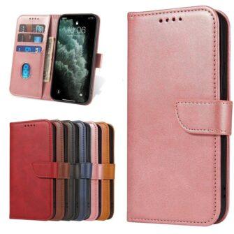 Samsung Galaxy A21S magnetiga raamatkaaned roosa 8