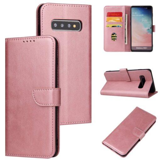Samsung Galaxy S10 magnetiga raamatkaaned roosa 4 1