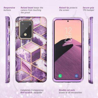Samsung Galaxy S20 Ultra umbris Supcase Cosmo Galaxy Purple 2