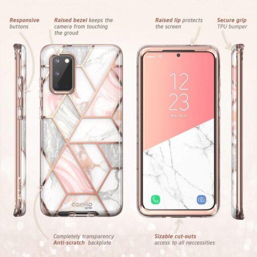 Samsung Galaxy S20 umbris Supcase Cosmo Galaxy Marble 2