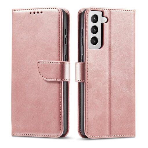 Samsung Galaxy S21 Ultra magnetiga raamatkaaned roosa 10