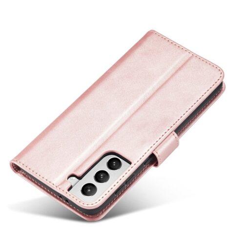 Samsung Galaxy S21 Ultra magnetiga raamatkaaned roosa 3 1
