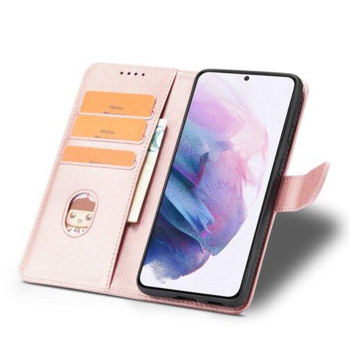 Samsung Galaxy S21 Ultra magnetiga raamatkaaned roosa 5 1