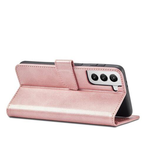 Samsung Galaxy S21 Ultra magnetiga raamatkaaned roosa 6 1