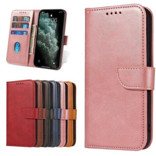 Samsung Galaxy S21 Ultra magnetiga raamatkaaned roosa 8