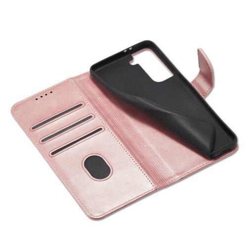 Samsung Galaxy S21 magnetiga raamatkaaned roosa 6 1