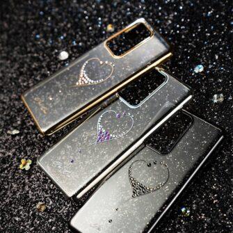 Samsung S20 Kingxbar Wish elastsest plastikust Swarowski kristallikestega kuldne 13