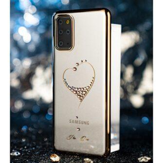 Samsung S20 Kingxbar Wish elastsest plastikust Swarowski kristallikestega kuldne 14