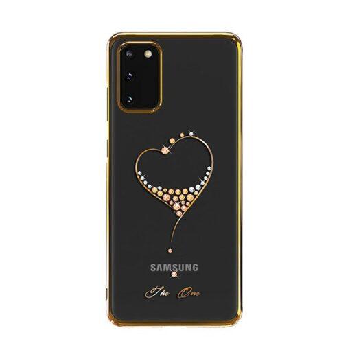 Samsung S20 Kingxbar Wish elastsest plastikust Swarowski kristallikestega kuldne