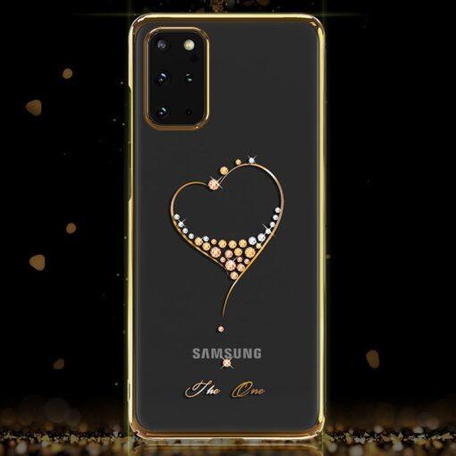 Samsung S20 Kingxbar Wish elastsest plastikust Swarowski kristallikestega kuldne 7