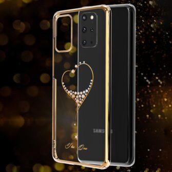 Samsung S20 Kingxbar Wish elastsest plastikust Swarowski kristallikestega kuldne 8