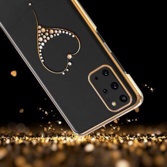 Samsung S20 Kingxbar Wish elastsest plastikust Swarowski kristallikestega must 10
