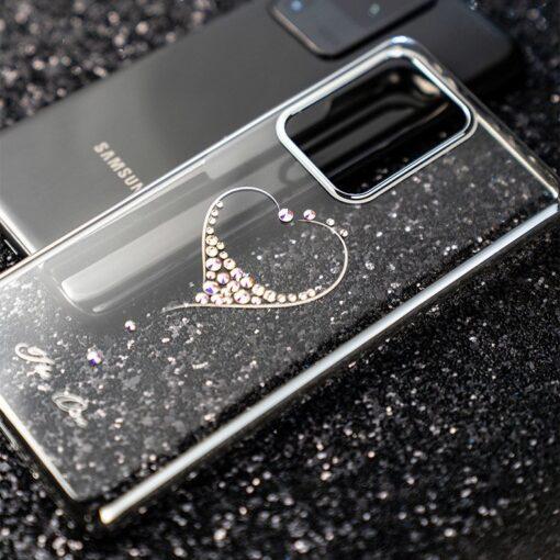 Samsung S20 Kingxbar Wish elastsest plastikust Swarowski kristallikestega must 12