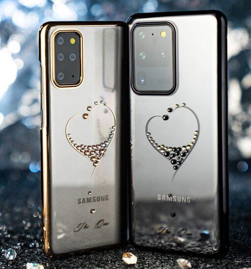 Samsung S20 Kingxbar Wish elastsest plastikust Swarowski kristallikestega must 13