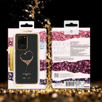Samsung S20 Kingxbar Wish elastsest plastikust Swarowski kristallikestega must 15