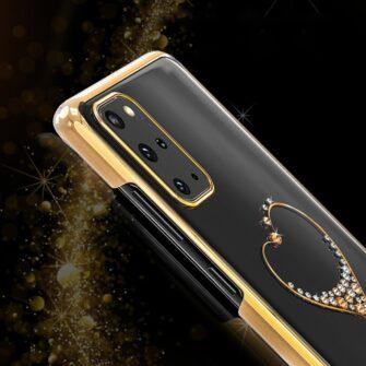 Samsung S20 Kingxbar Wish elastsest plastikust Swarowski kristallikestega must 9