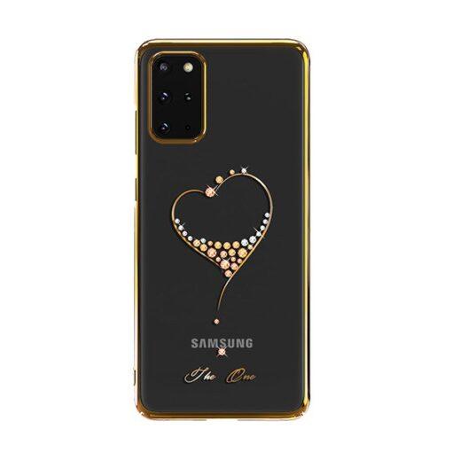Samsung S20 Plus Kingxbar Wish elastsest plastikust Swarowski kristallikestega kuldne