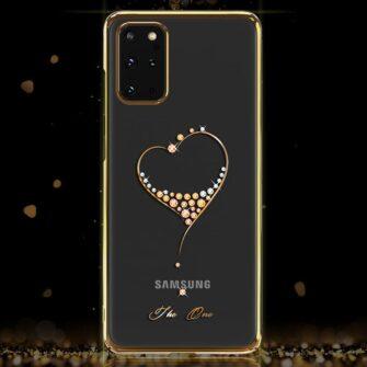 Samsung S20 Plus Kingxbar Wish elastsest plastikust Swarowski kristallikestega kuldne 7