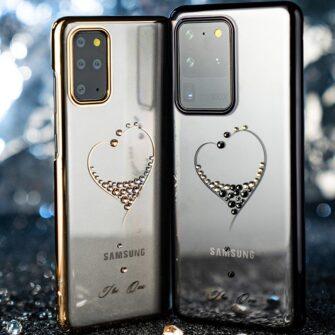 Samsung S20 Plus Kingxbar Wish elastsest plastikust Swarowski kristallikestega must 13